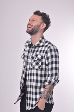 Camisa Scottish Negro y blanco