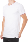 Remera Neck White and Red