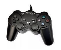 Joystick Pc Usb 2.0 Gamepad Nm-2007u Dual Shock Netmak
