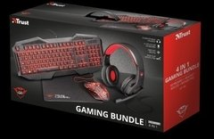 Kit Gaming 4 En 1 Trust Gxt788 Auriculares Mouse Teclado Pad