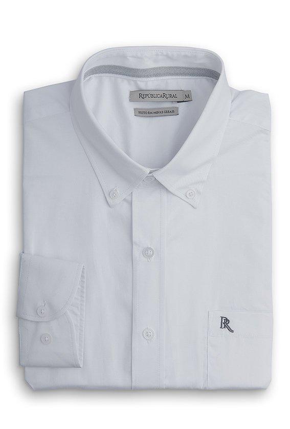 08348a110 Camisa Masculina Branca - RR - República Rural
