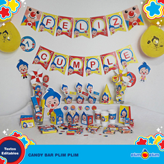 Kit Imprimible Plim Plim Oficial © Decoración Cumpleaños Candy Bar