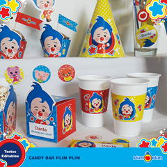 Kit Imprimible Plim Plim Oficial © Decoración Cumpleaños Candy Bar en internet