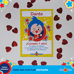 Kit Imprimible Plim Plim Oficial © Decoración Cumpleaños Candy Bar - Plim Plim Shop