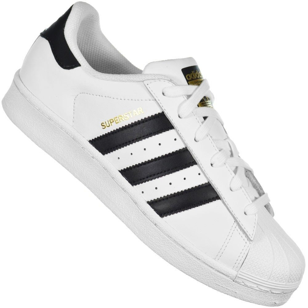 a6851d95f2a Tênis Adidas Superstar Branco preto - Tênis King