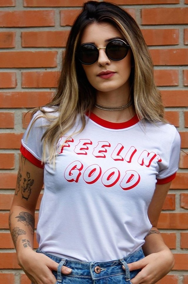 FEELIN' GOOD RINGER TEE atacado