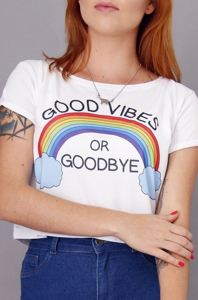 GOOD VIBES CROPPED atacado - comprar online