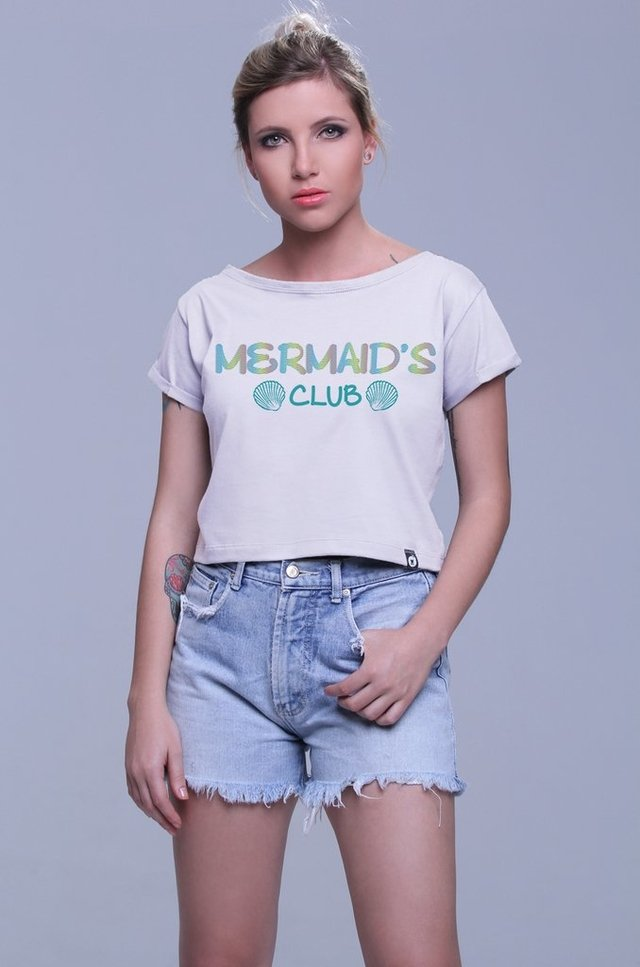 BLUSA CROPPED MERMAIDS CLUB atacado