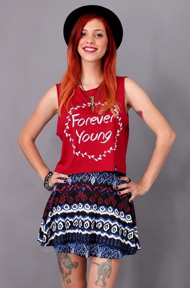 FOREVER YOUNG REGATA CROPPED atacado