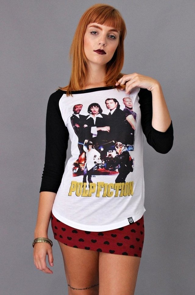 PULP FICTION RAGLAN 3/4 FEMININA atacado