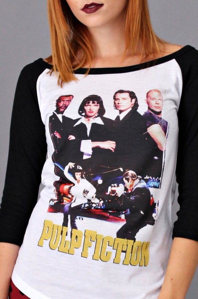PULP FICTION RAGLAN 3/4 FEMININA na internet