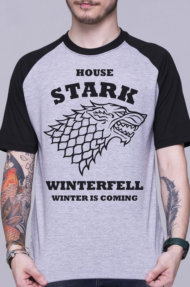 GAME OF THRONES - HOUSE STARK RAGLAN MASCULINA - comprar online
