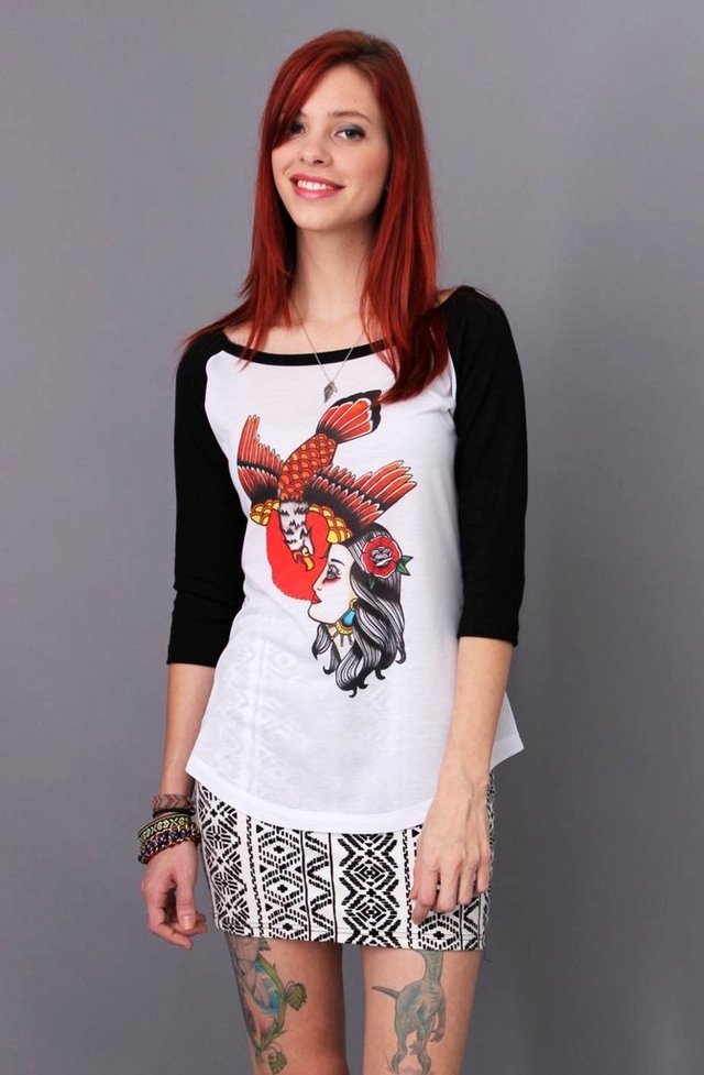 CAMISETA WOMAN AND EAGLE RAGLAN 3/4 FEMININA atacado - comprar online