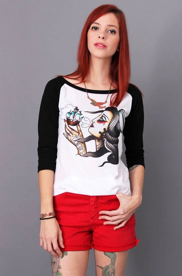 SAILOR GIRL RAGLAN FEM 3/4 atacado