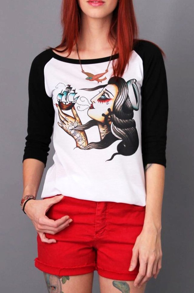SAILOR GIRL RAGLAN FEM 3/4 atacado na internet