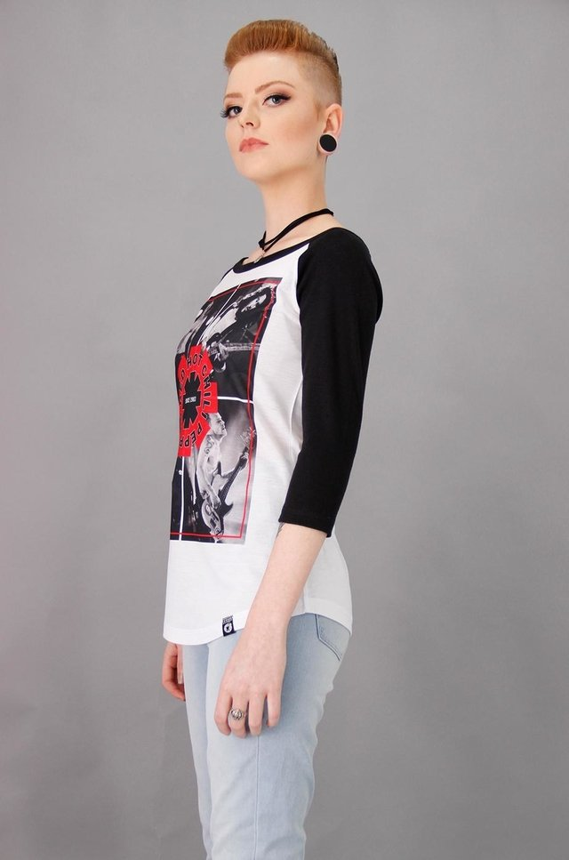 RED HOT CHILI PEPPERS RAGLAN FEM 3/4 - Rocket Camisetas