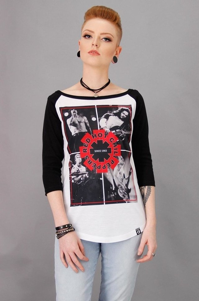RED HOT CHILI PEPPERS RAGLAN FEM 3/4 atacado - comprar online