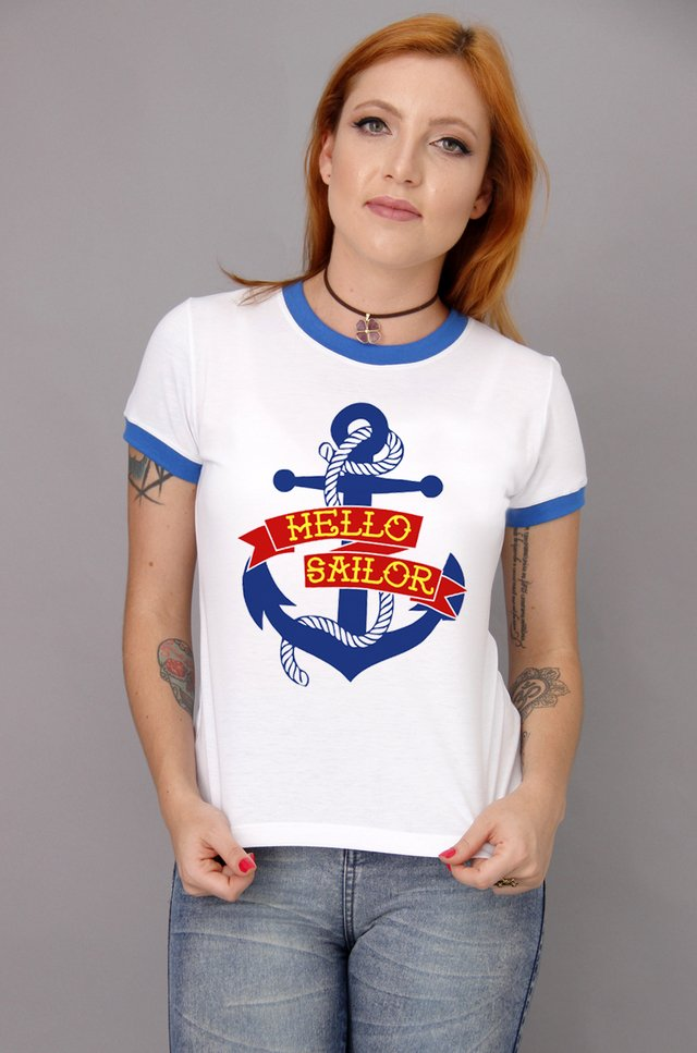 HELLO SAILOR RINGER TEE