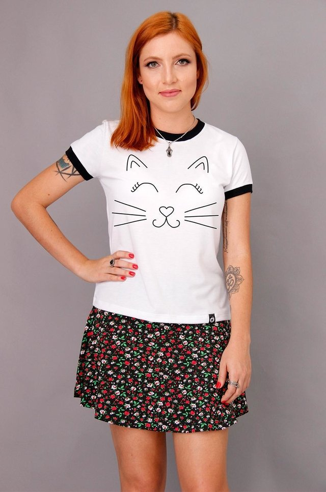 CAT SMILE RINGER TEE na internet