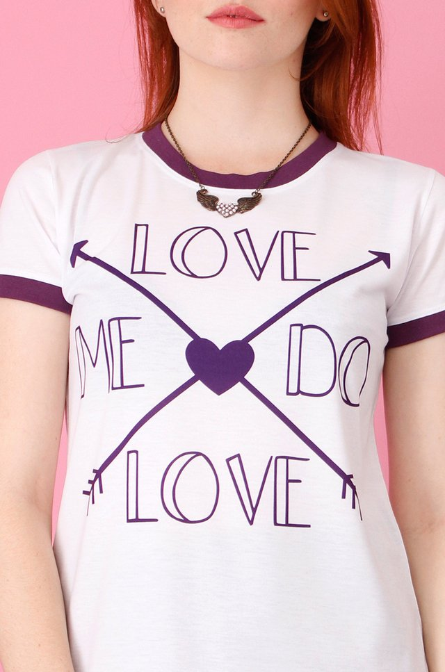 LOVE ME DO RINGER TEE - comprar online