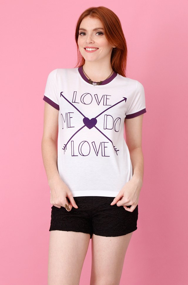 LOVE ME DO RINGER TEE na internet