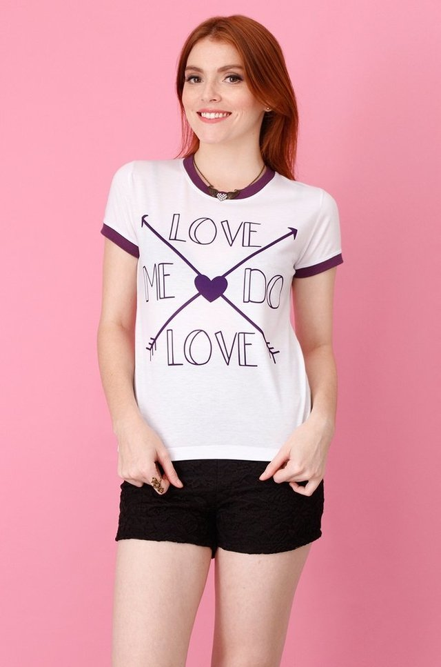 LOVE ME DO RINGER TEE atacado na internet