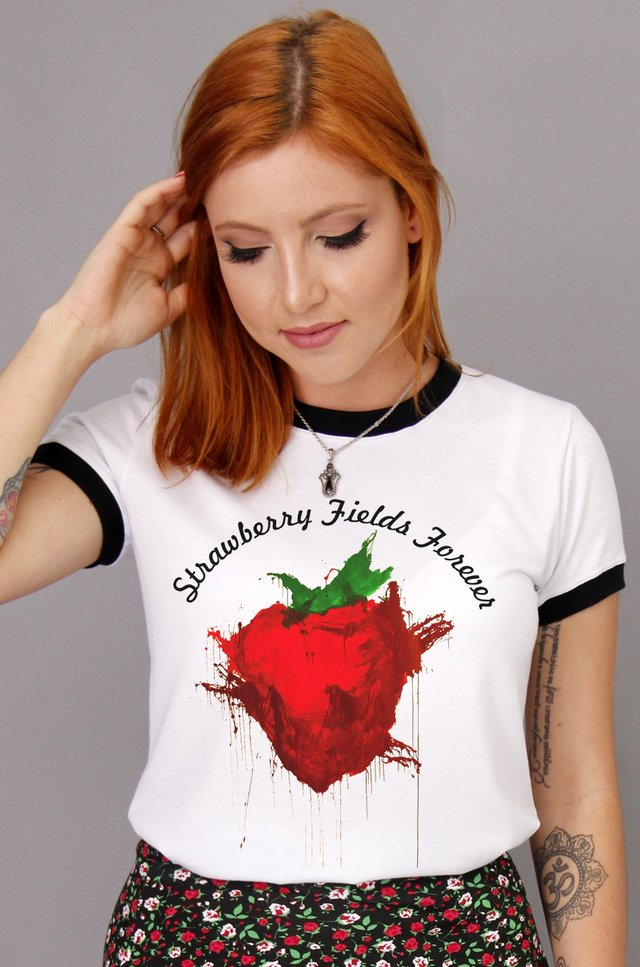 STRAWBERRY RINGER TEE