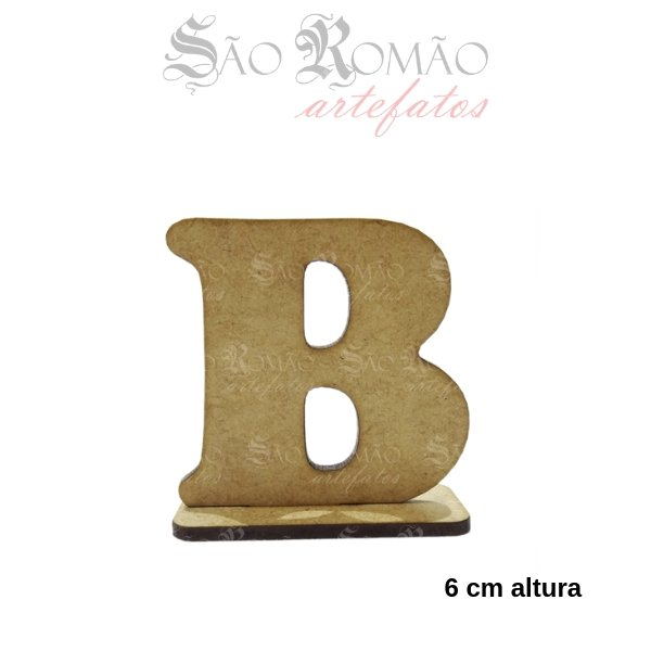 f2f271ee3 Letra de Forma B com Base MDF 3mm para Artesanato 6