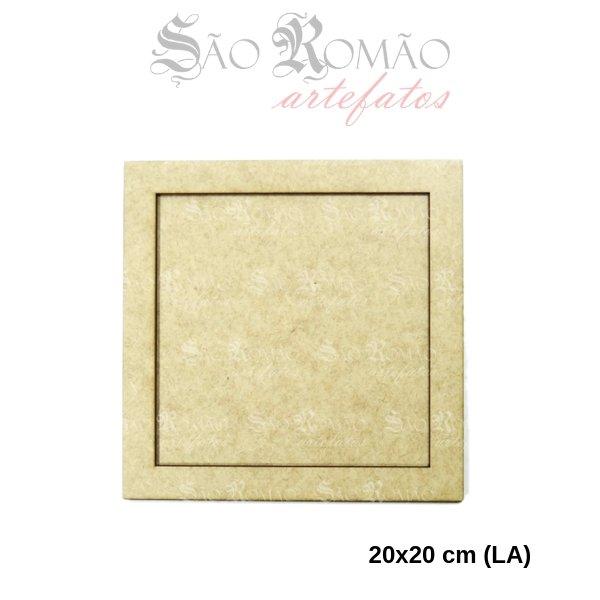 cc60c7d56 Quadro Moldura Simples MDF 3mm para Artesanatos 16x16cm espaço interno  modelo 01-20x20