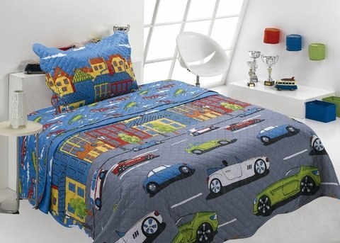 Edredom Patchwork Ultrassonic Infantil Matelassê  Estampado 2 Peças Happy Day Sultan