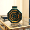 Malachite vase green