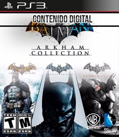 COMBO BATMAN COLLECTION PS3 -INCLUYE 3 JUEGOS -DIGITAL-