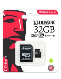 MEMORIA MICRO SD KINGSTON 32GB CLASE 10
