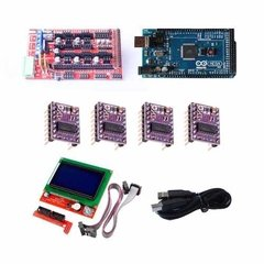 Kit Electronica Ramps + Arduino Mega+ 4 Drv8825 + Lcd Full