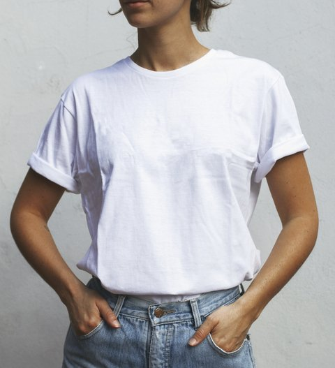 Remera ORGANIC Blanca fit Mujer - comprar online