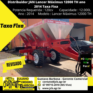 Distribuidor JAN Lancer Máximus 12000 TH ano 2014 Taxa Fixa - JAN