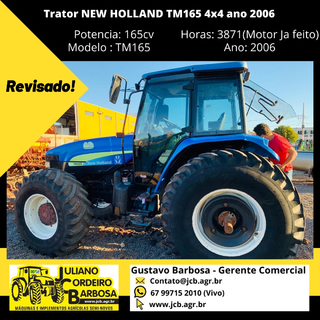 Trator NEW HOLLAND TM165 4x4 ano 2006 - NEW HOLLAND