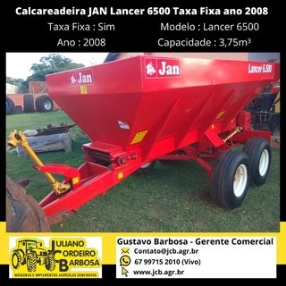Calcareadeira JAN Lancer 6500 Taxa Fixa ano 2008 - JAN