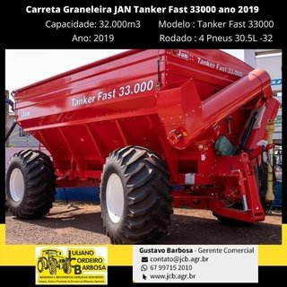 Carreta Graneleira JAN Tanker Fast 33000 ano 2019 - JAN