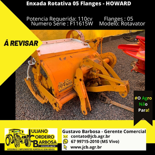Enxada Rotativa 05 Flanges - HOWARD