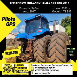 Trator NEW HOLLAND T8 385 4x4 ano 2017 - NEW HOLLAND