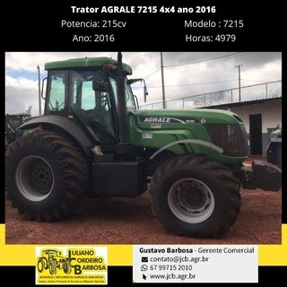 Trator AGRALE 7215 4x4 ano 2016 - AGRALE