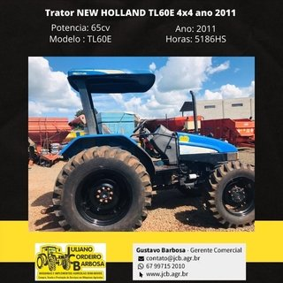 Trator NEW HOLLAND TL60E 4x4 ano 2011 - NEW HOLLAND