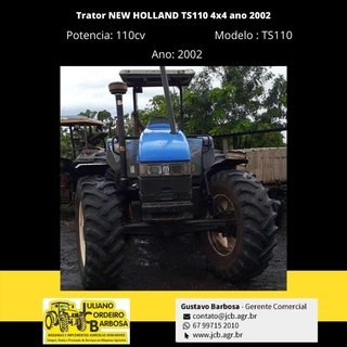 Trator NEW HOLLAND TS110 4x4 ano 2002 - NEW HOLLAND