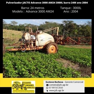 Pulverizador JACTO Advance 3000 AM24 3000L barra 24M ano 2004 - JACTO