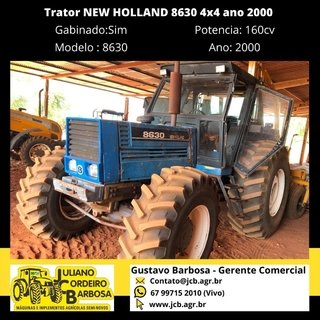 Trator NEW HOLLAND 8630 4x4 ano 2000 - NEW HOLLAND
