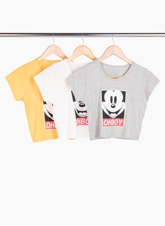 Top Oh boy - Remeras y remerones por mayor | Crema Moda