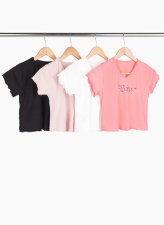 Top baby cuello V - Remeras y remerones por mayor | Crema Moda