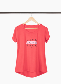 Remerón Give Love XL acampanado irregular