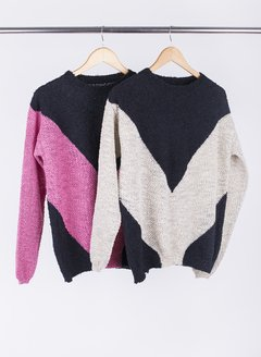 Sweater combinado Vous 55019 en internet